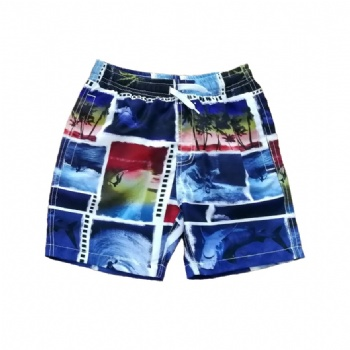 boys' beach shorts with AOP style No.: JB01316